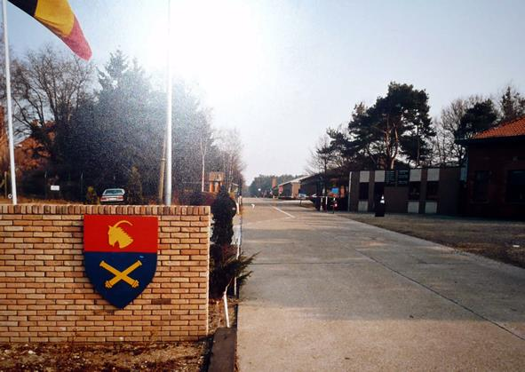 De ingang van het kwartier Helchteren 1986