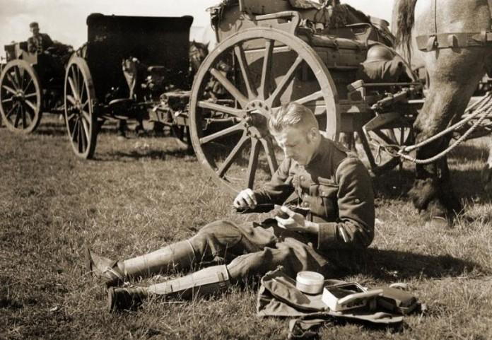 Artillerist tijdens de Mobilisatie