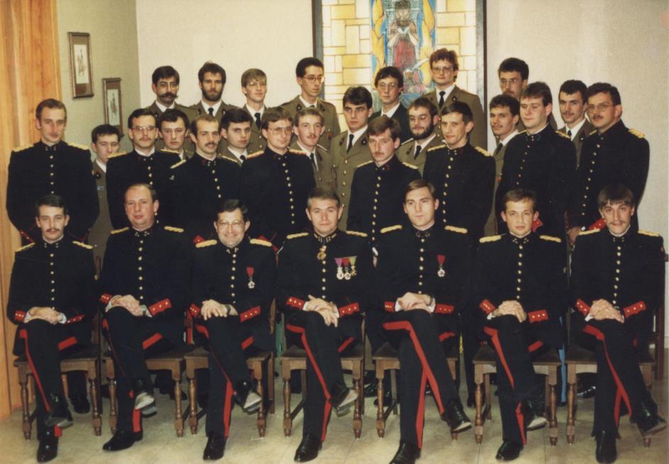 Het officierenkorps 2A Helchteren 15.11.1986